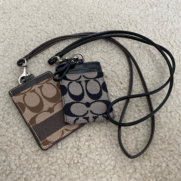 Coach Accessories - Coach ID badge holder, tan and black